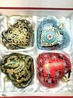 Joan Rivers Set of 4 Russian Inspired Heart Ornaments