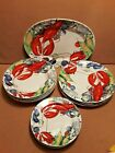 Set of 13 Youngberg LOBSTER FEST Plates Bowls  Platter Youngberg 1998 Y  Co