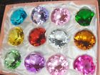 12 2 inch Colored Diamond Cut Glass Stone Paper Weight Gift Favor 50 mm