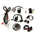 150cc 250cc ATV Electric Wiring Harness Loom Stator CDI Spark Plug Kits