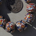 10 old antique venetian round millefiori african trade beads 4830