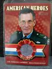 2009 Topps Heritage American Heroes Authentic Worn Shirt Col. Gordon R. Roberts