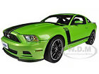 2013 FORD MUSTANG BOSS 302 GREEN 1 18 DIECAST MODEL BY SHELBY COLLECTIBLES SC453