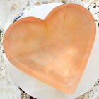 XL Selenite Charging Bowl Heart Peach Crystal Stone Reiki CHARGED Healing Clea