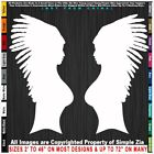 Native American Two Women in headdresses sexy girls Sticker Decal