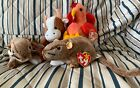 Pre Owned TY Beanie Baby Lot Of 4 Bessie-Tip Toe-Chipper-Strut