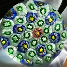 Vintage Murano Beautiful Millefiori Art Glass Paperweight Excellent More Listed