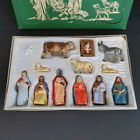VTG Nativity Set Friedel Bavaria Hand Painted Germany Krippenfiguren Plastic