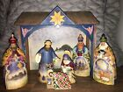 JIM SHORE 2003 NATIVITY SET 7 Pc HEARTWOOD CREEK Mint Condition