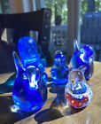 5 Murano Italy Glass Birds 2 Of Them Are Signed By Artists