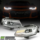 2016 2020 Chevy Camaro HID Xenon Chrome LED Sequential Turn Projector Headlights