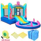 Inflatable Bounce House Water Slide Pool Kids Jump Bouncer Castle + Blower + Bag