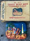 Vintage Paramount 3 Wise Men Plastic Lighted Nativity Scene National w Box 1950