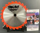 Actor Tobin Bell Autographed 65 Red Tipped SAW Blade Signed Jigsaw JSA COA