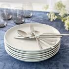 Collins Round Porcelain Dinner Plates Set 12 White Dishwasher Microwave New