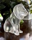 Lalique BAMARA LION Crystal Scupture Mint Condition Signed Authentic Gorgeous
