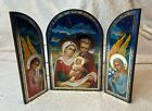 NEW Nativity Scene of Christ Russian Icon Triptych Virgin Mary and Baby Jesus
