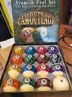 Camouflage Pool Ball Set by Aramith Camo  Mint Condition ships fast