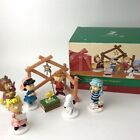 Dept 56 Peanuts Christmas Pageant Nativity Set of 8 Figures 802162 Original Box