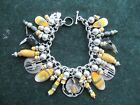 Sterling Charm Bracelet Native American charms antique trade beads bumblebee