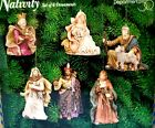 DEPT 56 NATIVITY SET OF 6 ORNAMENTS Jesus Mary Joseph Kings Bethlehem Holy