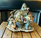 Large Resin Nativity Scene 3 Wiseman on Camels Musical Snow Globe