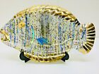 Vintage Art Glass Confetti Stained Glass Fish Hanging Suncatcher Bowl Dish Decor
