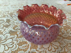 Victorian Cranberry Opalescent Glass Coin Dot Globe Shade