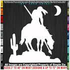 Native American End Of The Trail Cactus Moon Indian WarriorDecal Sticker