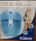 Conair Pedicure Foot Spa with Bubbles  Heat and Pinpoint Massage Attachment