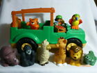 Fisher Price Little People Safari Jeep with Sounds 8 Zoo Animals  Care Taker