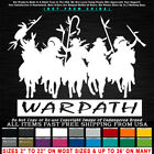 Native American War Path Warriors Horses Silhouette Sticker Decal