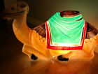 Empire Camel Lighted Christmas Nativity 25 Vintage Laying Down Red Green Gold