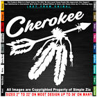 Native American Arrow with Feathers Cherokee sticker decal