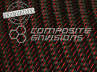2nd Quality Red Reflections Carbon Fiber Fabric 2x2 Twill 3k 50 59oz 200gsm
