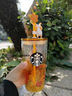 Starbucks China 2020 Tumbler Late Autumn Rabbit 16oz Double Glass Wall Straw Cup