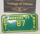 1975 Kansas BT Barton Cty MBYC License Plate Tag Motorized Bicycle Scooter Moped