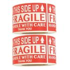 Fragile This Side Up Handle With Care Thank You Red Warning Labels Small 2x3