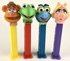 Muppets Kermit the Frog, Miss Piggy, Fozzie Bear & Gonzo Pez Dispensers