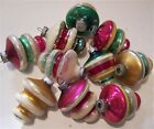 10 colorful painted mercury glass Christmas holiday ornaments lanterns UFO 2 3