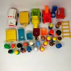 Lot of 47 Vintage Fisher Price Little People and Vehicles