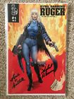 Ruger Sybil Danning Signed Comic Book MINT Comic Horror Action RARE