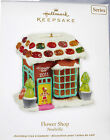 2011 Hallmark Flower Shop Gingerbread Candy Decorated #6 Noelville NEW MINT