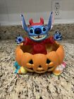 NEW WITH TAG Disney Store Stitch Halloween Candy Bowl