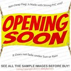 Opening Soon Custom Banner Sign Multiple Sizes Yellow Red