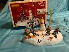 Lemax Christmas Village Lighted & Animated Table Accent Boys v Girls Tug Of War
