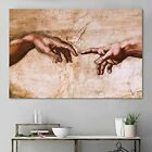 Wall Art Hand of God Painting Abstract Colorful Modern Wall Decor