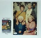 RUE MCCLANAHAN & BETTY WHITE HAND SIGNED 8X10 PHOTO W JSA COA THE GOLDEN GIRLS