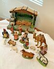 Italian Nativity Set Christmas Manger Scene with MUSIC Made In Italy VTG w BOX