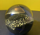 Randy Strong Abstract Art Glass Hand blown Paperweight Signed R Strong 2